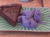 gateau chocolat- courgette glace mûres sauvages