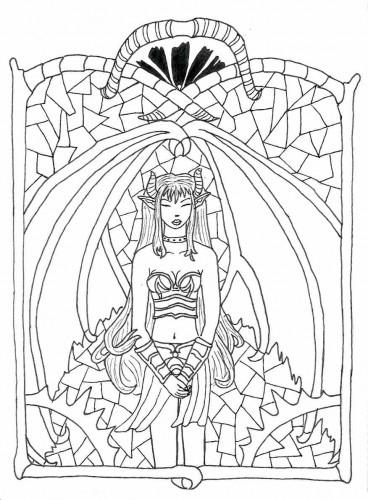 Dessin elfe aux vitraux paperblog - Dessin vitraux ...