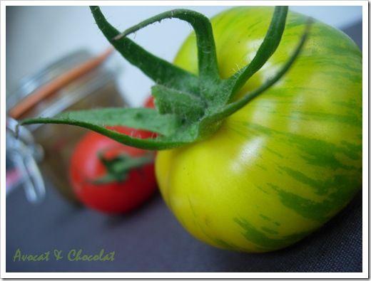 Chutney de pomme tomate verte green zebra au gingembre l g rement piment d couvrir - Cuisiner des tomates vertes ...