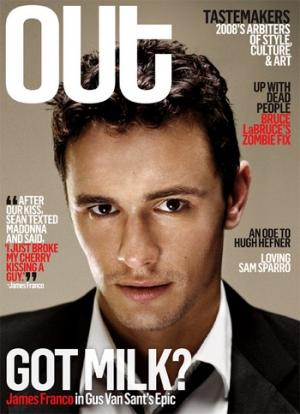 James Franco en Une de Out