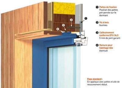 Poser une fenetre bois deco peinture poser une fen tre for Pose fenetre pvc sur cadre bois