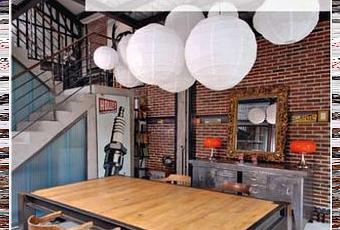 Un livre d co le style industriel voir - Appartement style industriel ...