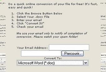 Docx converter pour convertir un fichier docx voir - Comment ouvrir un fichier docx avec open office ...