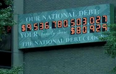 The National Debt Clock at 1133 Avenue of the Americas, Manhattan
