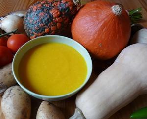 Velouté de potiron et autres légumes d'automne (photo C. Cornu / S. Clerc)