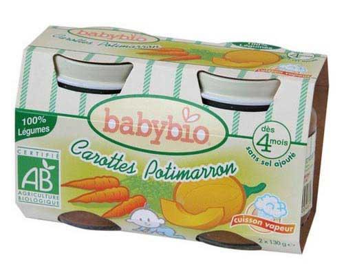 Petits pots carottes-potimarron bio - Le Portail Bio