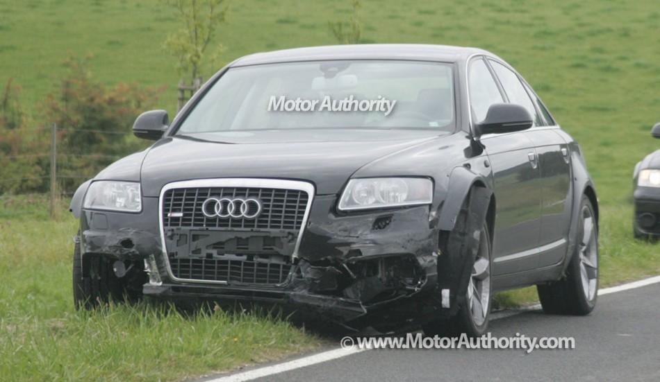 Audi A7, modèle 2011 souffre d'accident pendant les essais.
