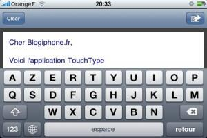 TouchType iPhone