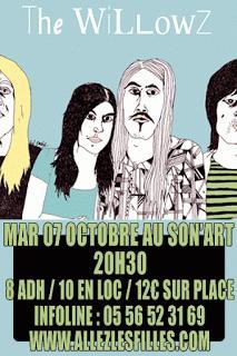 Compte-rendu du concert de The Willowz, le 07/10 au Son'Art (Bordeaux)