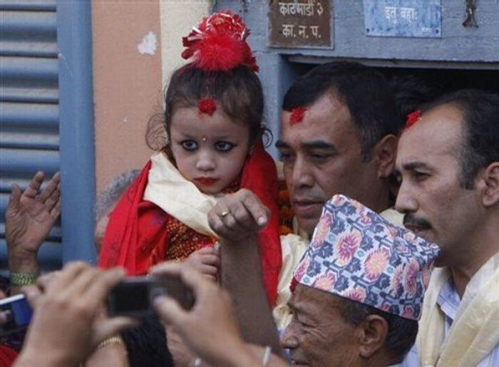 Matina Shakya, une déesse vivante
