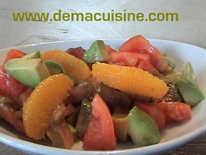 Salade avocat orange