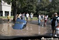 Accident de voiture fin