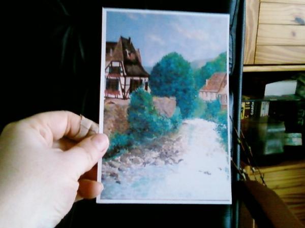 ANNIE L. m'offre un superbe cadeau: tableau peint par elle vu son blog