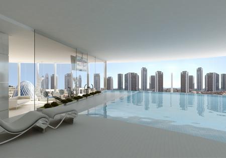 Rotating Tower, bâtiment impressionnant. Dubaï.