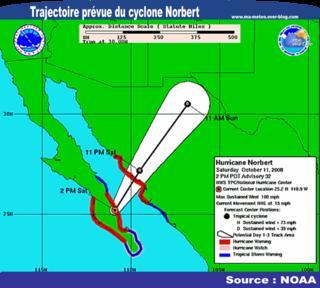 [Cyclone / Ouragan Norbert] Basse-Caroline du Sud touchée (Mexique)