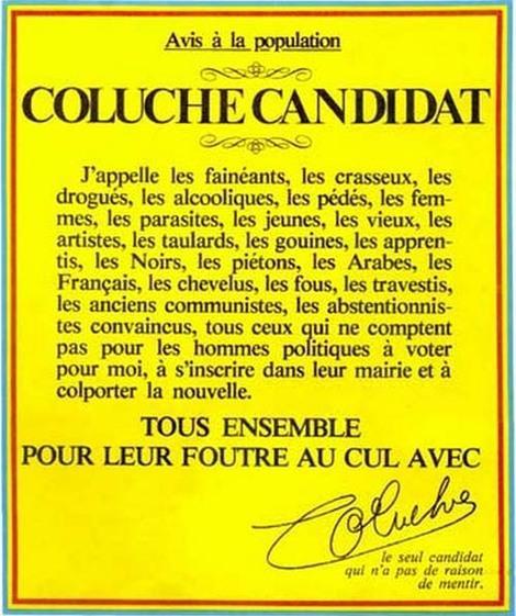 La mort de Coluche Affiche-coluche-lelection-presidentielle-1981-L-1