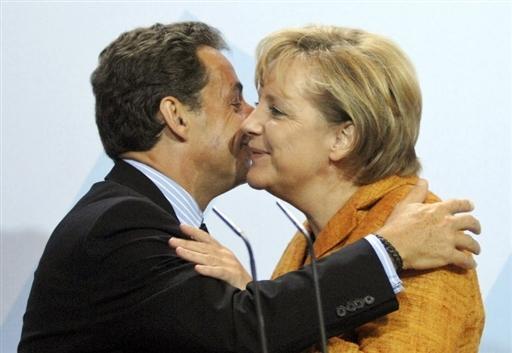 Sarkozy et Merkel à Colombey