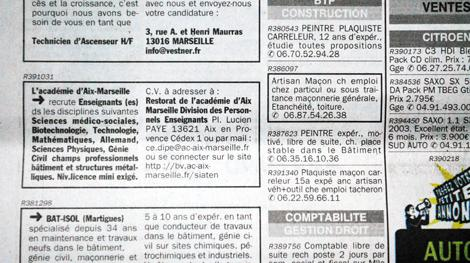 A Marseille, l'académie recrute des profs par petites annonces