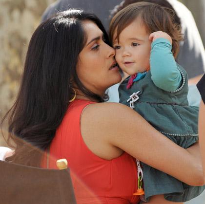30 Rock : photos de Salma Hayek sur le tournage