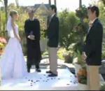 vidéo régis témoin mariage mariée eau
