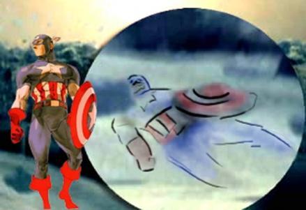 Captain America dans L'incroyable Hulk de Louis Leterrier