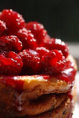 Cheese cake framboise, tarte tomates p'tits sablés