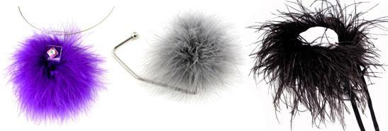 Collection Poids Plumes: des accessoires tout en plumes!