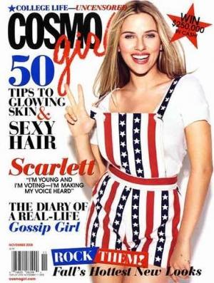 Scarlett Johansson en Une de Cosmo Girl