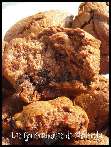 Muffins Chocolat, Noix de Pécan et Miel