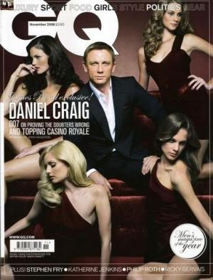 Daniel Craig en Une de GQ