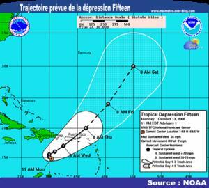 [Caraïbes] La dépression Fifteen : futur ouragan et Puerto Rico menacé