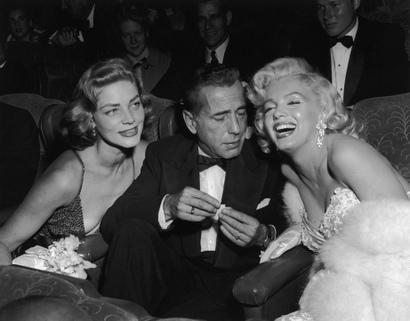 Bogart, Bacall et Monroe