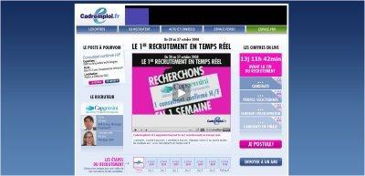 Recrutement en temps réel : CapGemini sur Cadremploi.fr