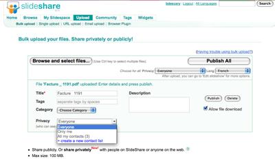 slideshare-1 Slideshare étend sa compatibilité aux documents Word, Excel et PDF