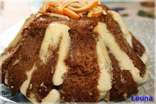 La voici ma charlotte de pain d'épice à l'orange....