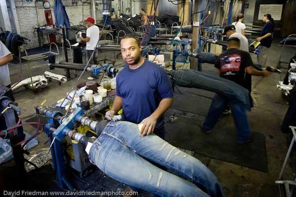 Fabrication de jeans