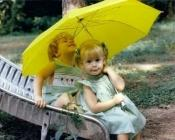 enfants parapluie