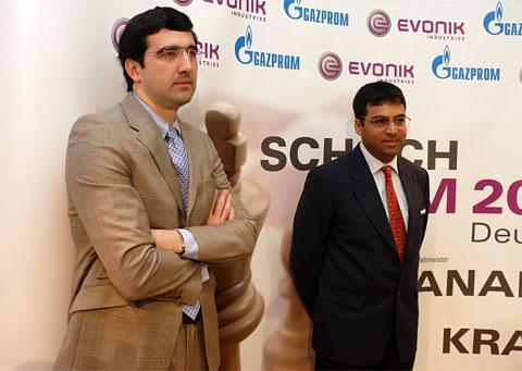 Championnat du Monde Anand-Kramnik Ronde1