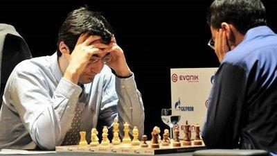 Kramnik contre Anand - Crédits photo : AFP