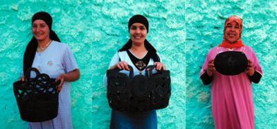 Trois femmes de la coopérative Ifassen