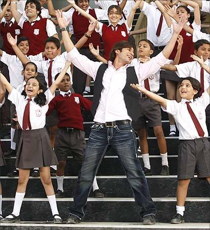 Shahid Kapoor le professeur d'école