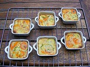Flan de courgettes, carottes et pommes de terre.