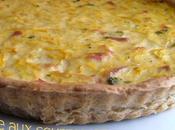 Tarte courgettes, pâte petits suisses parmesan
