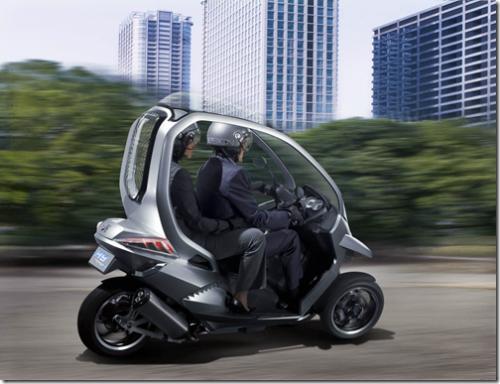hymotion3 le scooter 3 roues carross avec un toit et. Black Bedroom Furniture Sets. Home Design Ideas