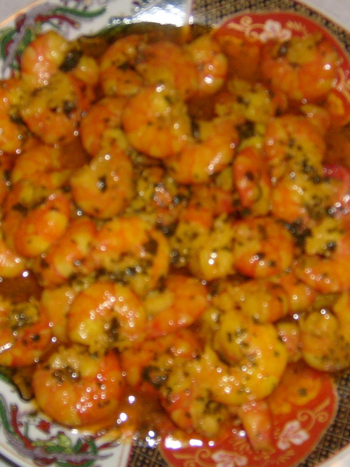Poisson frit la sauce aux poivrons et scampis en sauce paperblog - Poisson a la poele ...