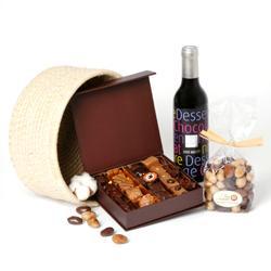 id e cadeau de no l vin champagne et chocolats paperblog. Black Bedroom Furniture Sets. Home Design Ideas