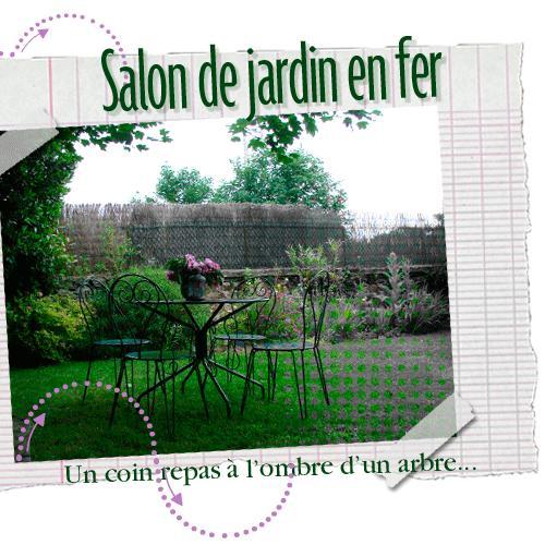 Salon de jardin en fer paperblog for Salon de jardin en anglais