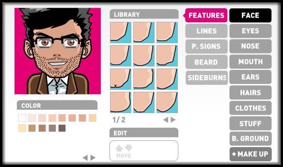 Et même pour les avatars femme vous pouvez mettre du maquillage et le