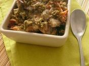 Crumble champignons sauvages, sans gluten