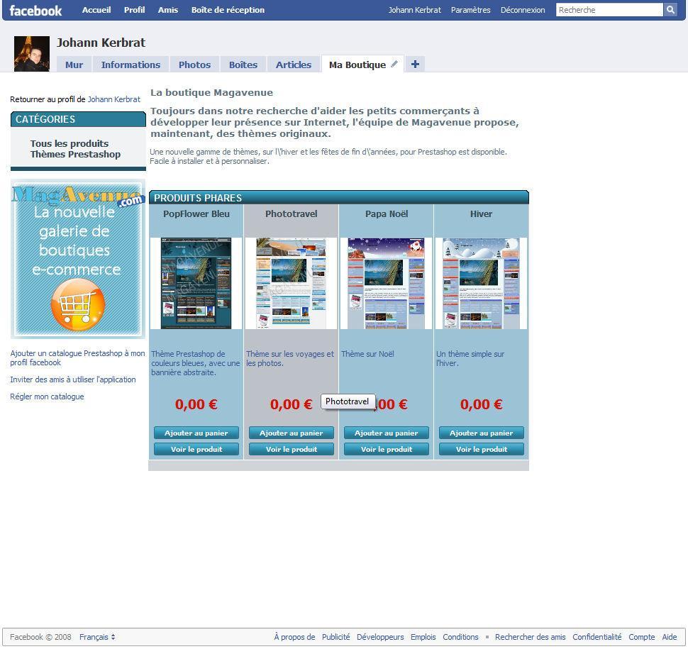module gratuit pour vendre les articles de votre boutique prestashop sur votre compte facebook. Black Bedroom Furniture Sets. Home Design Ideas